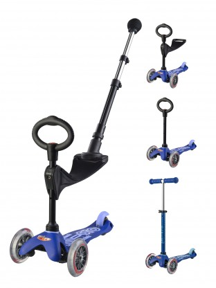 Trottinette Mini 3en1 Deluxe Push Bleu