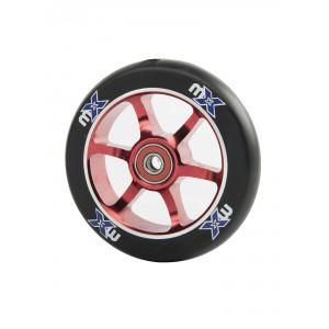 roue mx 100 mm core rouge pi ces d tach es pour trottinette freestyle. Black Bedroom Furniture Sets. Home Design Ideas