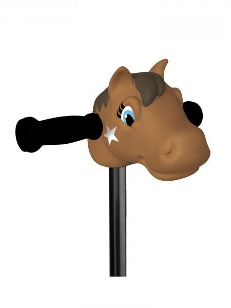 Tête de poney marron