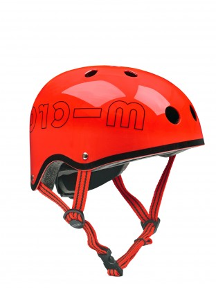 Casque rouge brillant