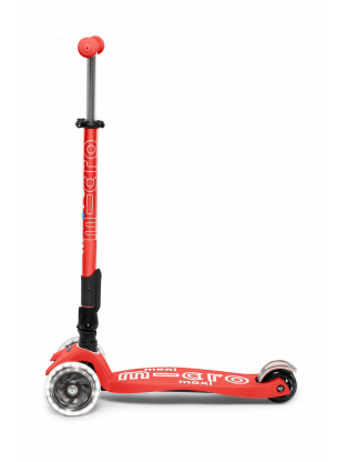 Trottinette 3 roues Maxi Micro Deluxe pliable Rose Corail roues LED