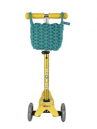 Panier vert pour trottinette 3 roues Micro