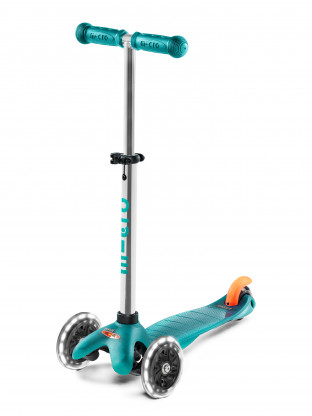 Trottinette 3 roues Mini Micro Plus LED aqua