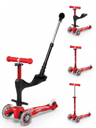 Trottinette 3 roues Mini Micro Deluxe Rouge