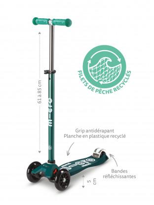 Trottinette 3 roues Maxi Micro Deluxe Eco Vert