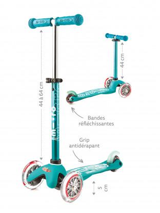 Trottinette 3 roues Mini Micro Deluxe Aqua