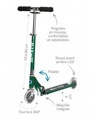 Trottinette 2 roues Micro Sprite Vert Sapin